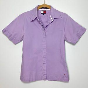 Tommy Hilfiger Ladies Purple Button Down